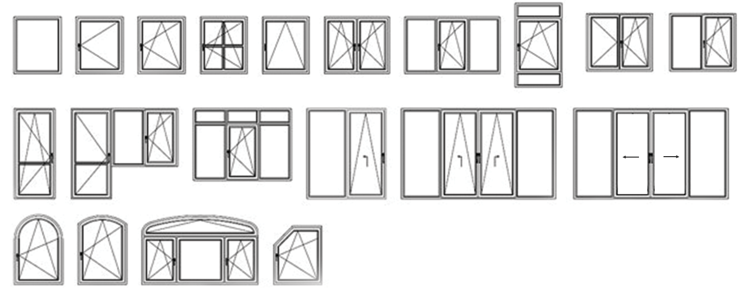 Windows and doors configurations Karina Plast