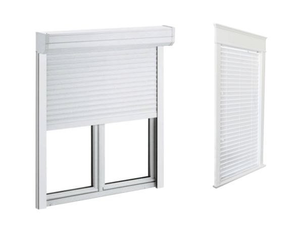 Adjustable interior and exterior shutters