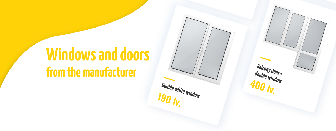 Windows and doors from the manufacturer